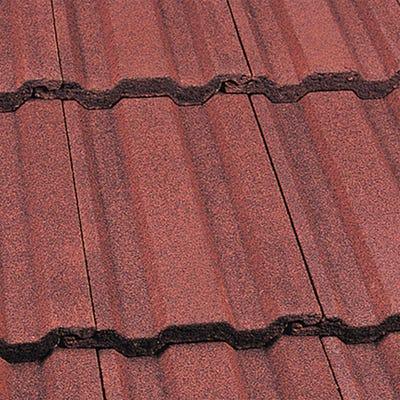 Marley Ludlow Plus Interlocking Roof Tile Concrete Dark Red 387mm x 230mm