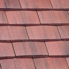 Marley Plain Tile Concrete Old English Dark Red 267mm x 168mm