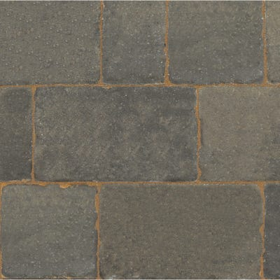 Bradstone Monksbridge Block Paving Cinder Mixed 4 Size Pack (9.6m²)