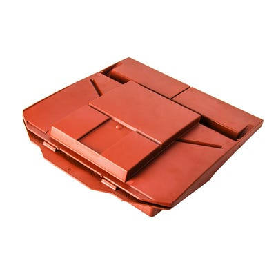 Universal Plain Tile Roof Vent Red