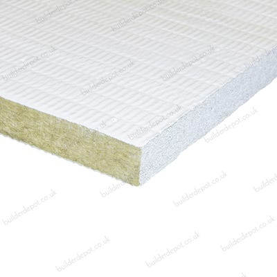 100mm Rockwool Fire Barrier Slab Foil Faced 1000mm x 666mm (2m²)