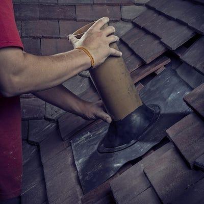 450mm x 450mm Flexible Lead Weathering Slate For Flat Roofs 0-20°