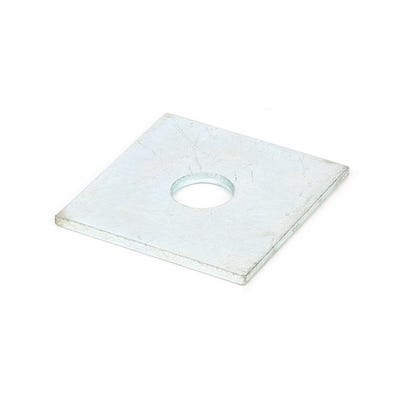 M12 50mm x 50mm Speed Pro Square Plate Washer Bright Zinc Plated Pack of 100