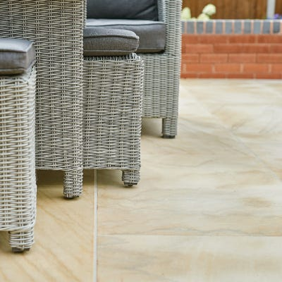 EM 20mm Dune Smooth Natural Sandstone Paving Patio Pack (15.3m²)