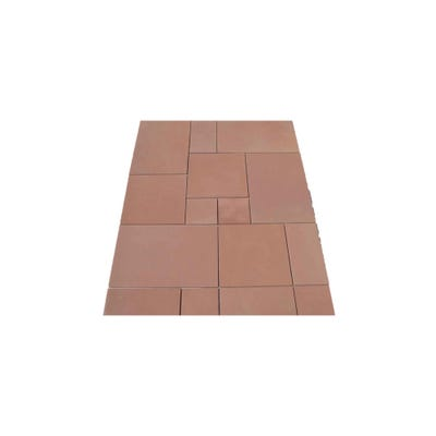 EM Calibrated Smooth Natural Sandstone Paving Modac Patio Pack (15.3m²)