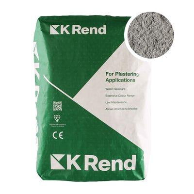 K Rend Silicone FT Textured Pewter Grey Render Coat 25Kg Pallet of 40