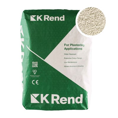 K Rend Silicone FT Textured Sterling White Render Coat 25Kg Pallet of 40