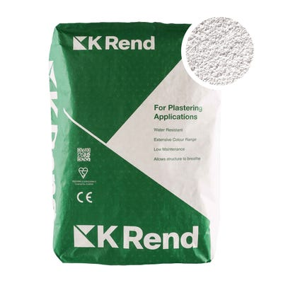 K Rend Silicone K1 White Scraped Render Coat 25Kg Pallet of 40