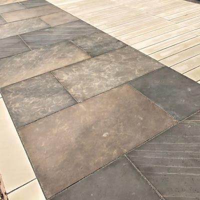 EM 20mm Sagar Cloudy Smooth Natural Sandstone Paving Patio Pack (15.3m²)