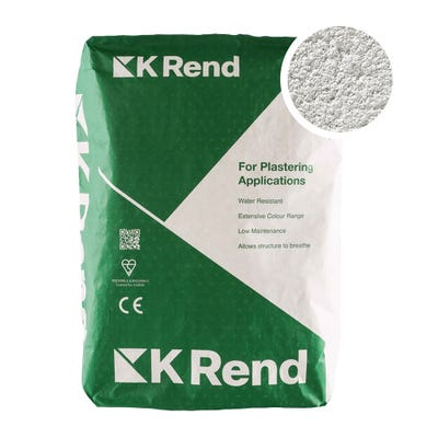 K Rend Silicone K1 Grey Scraped Render Coat 25Kg Pallet of 40