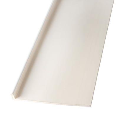 9mm x 225mm Primacell uPVC Fascia Board Single Leg 5000mm White
