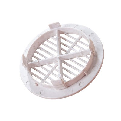 70mm Primacell uPVC Circular Soffit Vent Disc White