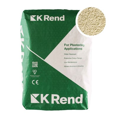 K Rend Silicone K1 Oatmeal Scraped Render Coat 25Kg Pallet of 40