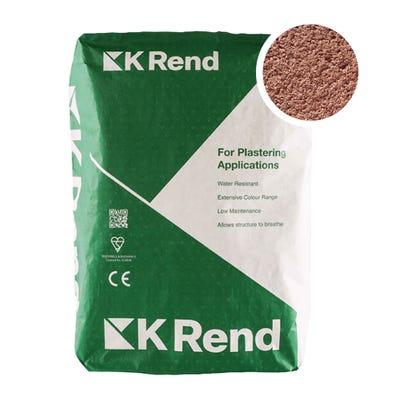 K Rend Silicone K1 Terracotta Scraped Render Coat 25Kg Pallet of 40