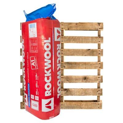 100mm Rockwool Thermal Insulation Cavity Batt 1200mm x 455mm Pallet of 20 (65.52m²)