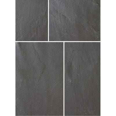 Bradstone 600mm x 300mm x 18-22mm Natural Slate Blue Black Pack of 85 (16.1m²)