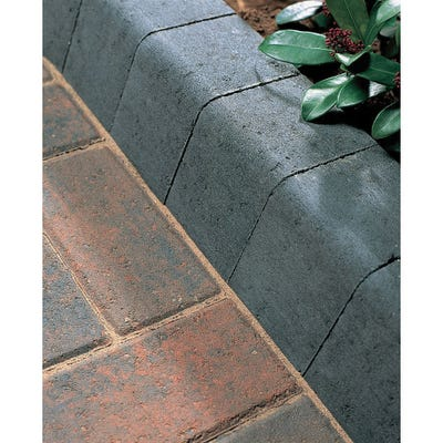 Bradstone 100mm x 125mm x 200mm Large Block Kerb Charcoal Pack of 192