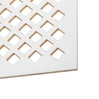 MDF White Dedalo Radiator Panel 1830mm x 600mm