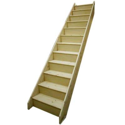 Jeld-Wen Standard Timber 12 Tread Straight Staircase