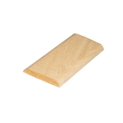 18mm x 4mm Richard Burbidge Hardwood D Shape Moulding 2400mm FB040