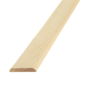 29mm x 4mm Richard Burbidge Pine D Shape Moulding 2400mm FB274