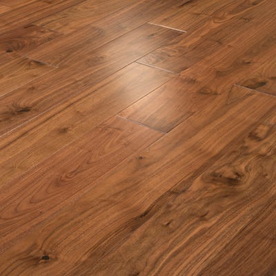 18 x 150mm Walnut Lacquered T&G Engineered Wood Flooring