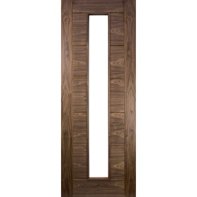 Deanta Internal Walnut Seville Prefinished 1L Unglazed FD30 Fire Door