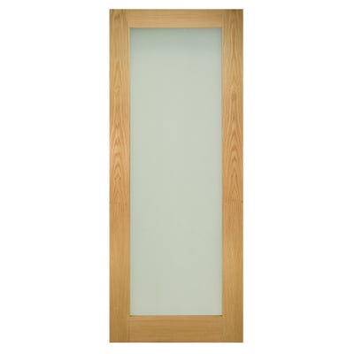 Deanta Internal Oak Walden 1L Pattern 10 Frosted Glazed Door