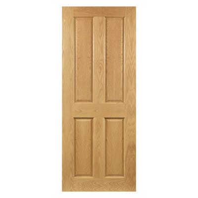 Deanta Internal Oak Bury 4 Panel Prefinished FD30 Fire Door