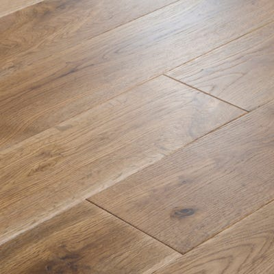 14 x 189mm Smoked Stained Oak Matt Lacquered Click Engineered Wood Flooring