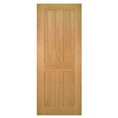 Deanta Internal Oak Eton Shaker 4 Panel FD30 Fire Door