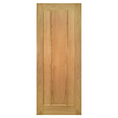Deanta Internal Oak Norwich 3 Panel Door