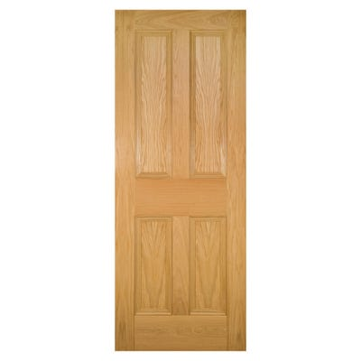 Deanta Internal Oak Kingston 4 Panel FD30 Fire Door