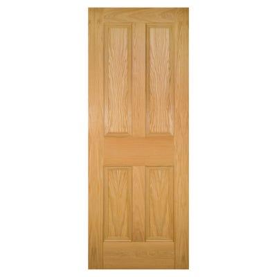 Deanta Internal Oak Kingston 4 Panel FD30 Fire Door