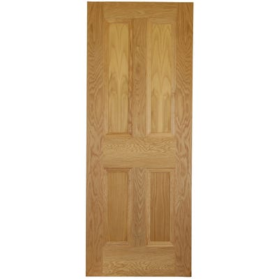 Deanta Internal Oak Kingston 4 Panel Door