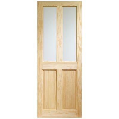 XL Joinery Internal Clear Pine Victorian 2L Clear Glazed Door