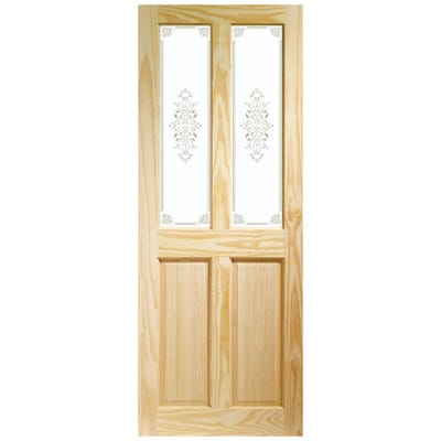 XL Joinery Internal Clear Pine Victorian 2L Campion Glass Door