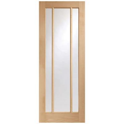 XL Joinery Internal Oak Worcester 3L Clear Glazed FD30 Fire Door