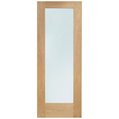 XL Joinery Internal Oak 1L Pattern 10 Clear Glazed FD30 Fire Door