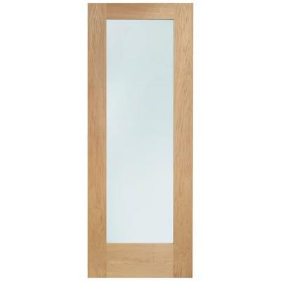 XL Joinery Internal Oak 1L Pattern 10 Clear Glazed FD30 Fire Door