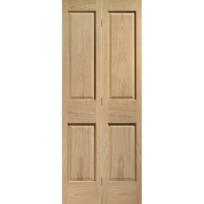 XL Joinery Internal Oak Victorian 4 Panel Bi-Fold Door