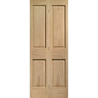 XL Joinery Internal Oak Victorian 4 Panel Bi-Fold Door 1981 x 762 x 35mm