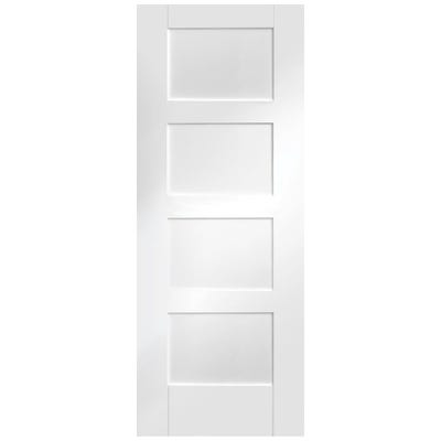 XL Joinery Internal White Primed Shaker 4 Panel FD30 Fire Door