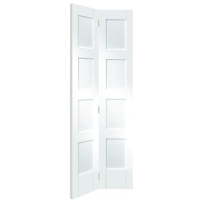 XL Joinery Internal White Primed Shaker 4 Panel Bi-Fold Door
