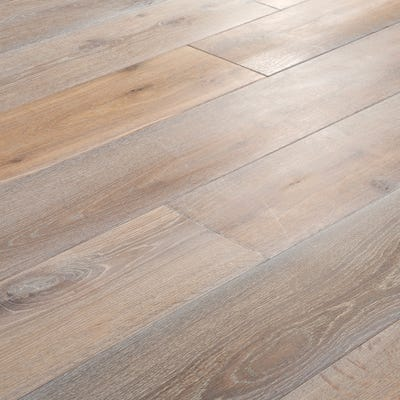 18 x 189mm Oak Smoked and White Oiled T&G Engineered Wood Flooring