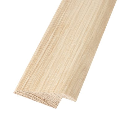 Solid Oak Ramp Profile 20mm Floors Unfinished 2.35m