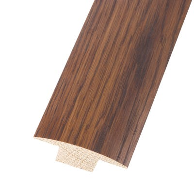 Solid Oak T-Bar 15mm Floors Walnut Stained 0.9m