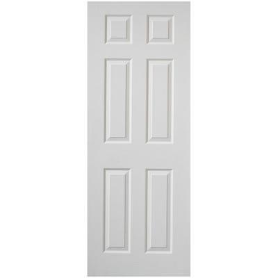 Premdor Internal White Primed Moulded Woodgrain 6 Panel FD30 Fire Door