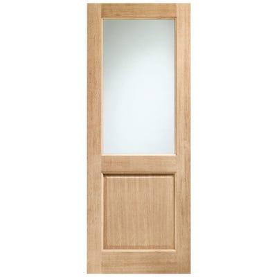 XL Joinery External Oak Dowelled 1L Clear Glazed Door