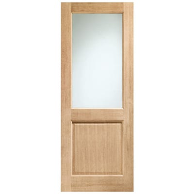 XL Joinery External Oak Dowelled 1L Clear Glazed Door